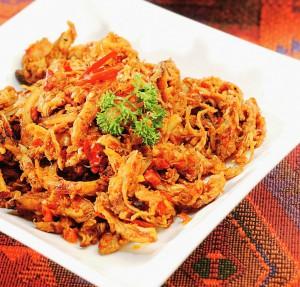 Resep Masakan Bali Ayam Suwir Bumbu Pedas